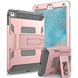 iPad Case,iPad Air Case-SKYLMW [Heavy Duty] Three Layer Hybrid Shockproof Full-Body Protective Case Cover With Kickstand for Apple iPad Air,iPad Air 2,iPad Pro 9.7,New iPad 9.7 2017 Release, Rose Gold