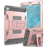 SKYLMW Case iPad 9.7 2018, SKYLMW [Heavy Duty] Three Layer Hybrid Shockproof Full-Body Protective Case Cover With Kickstand for iPad Air,iPad Air 2,iPad Pro 9.7,iPad 9.7 2017/2018 Release, Rose Gold