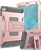 iPad Case - iPad Air Case-SKYLMW [Heavy Duty] Three Layer Hybrid Shockproof Full-Body Protective Case Cover With Kickstand for Apple iPad Air - iPad Air 2 - iPad Pro 9.7 - New iPad 9.7 2017 Release - Rose Gold