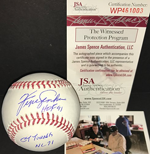 Chicago Autographed Cubs Jenkins Baseball (Fergie Jenkins Chicago Cubs Autographed Signed Official Major League Baseball JSA COA HOF 91 & CY Young NL 71)