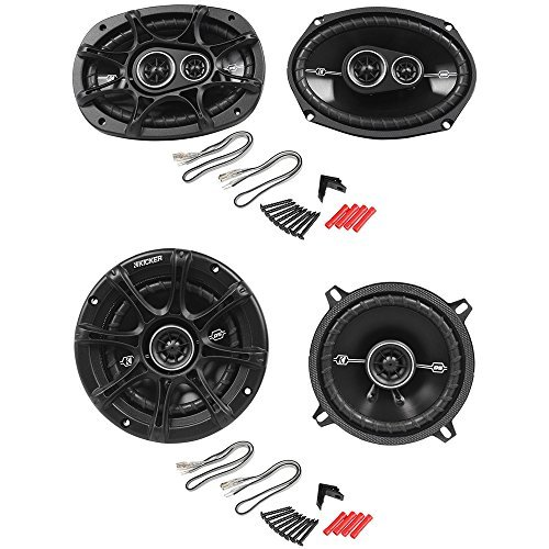 Package: Pair of Kicker 41DSC6934 6x9'' D-Series 3-Way Car Speakers Totaling 720 Watt Peak/180 Watt RMS + Pair of Kicker 41DSC54 5-1/4'' 5.25'' D-Series 3-Way Car Speakers Totaling 400 Watt Peak/100 Watt RMS by Kicker