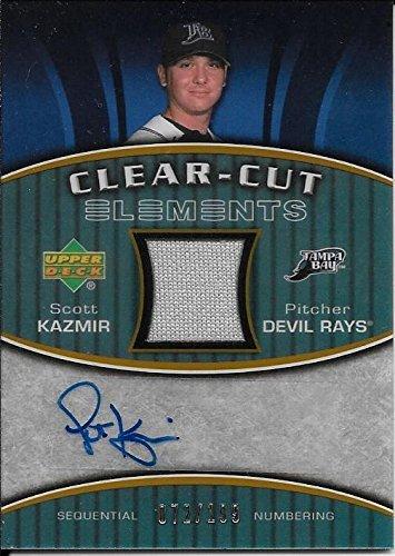 2007 Upper Deck Elements Clear Cut Gold Scott Kazmir Jersey Autograph #072/199