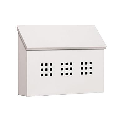 Salsbury Industries 4615WHT Traditional Mailbox Decorative Horizontal Style, White