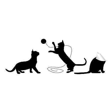 Gato Pegatina Lindo Vinilo Divertidos Gatos Amante Regalo de ...