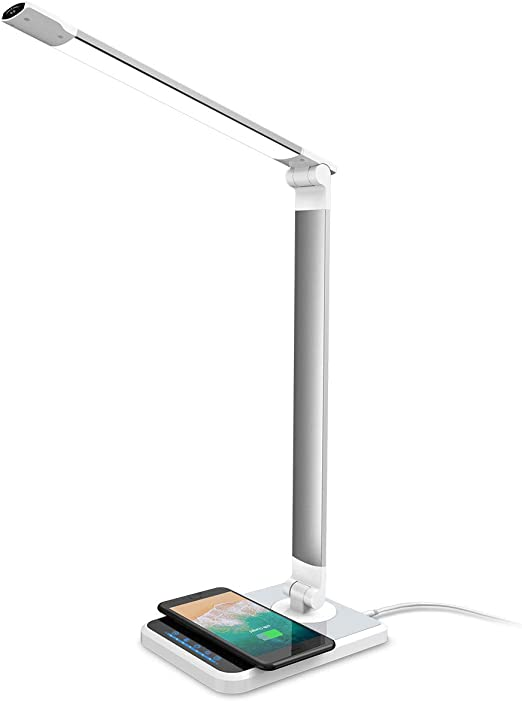 Coole LED Schreibtischlampe dimmbar mit USB Anschluss Ventilator Nachtischlampe