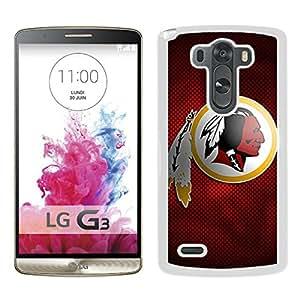 Washington Redskins 12 White High Quality Custom LG G3 Protective Phone Case