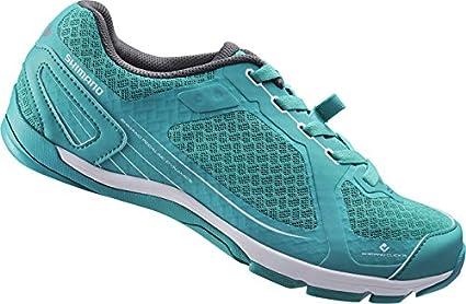 SHIMANO SHCW41C360G Zapatillas de Ciclismo de Carretera, Mujer, Verde (Green), 36