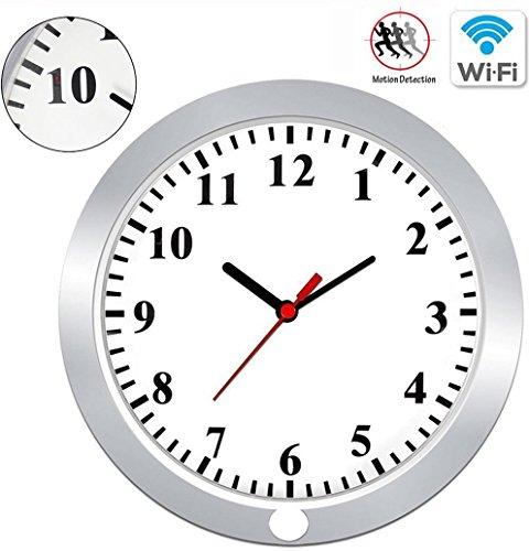 KAMRE WIFI Spy Camera Clock 1080P Hidden Camera Wall Clock Nanny