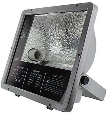 Foco de halogenuros metálicos TJW3 400 W, asimétrica de plata no incluida