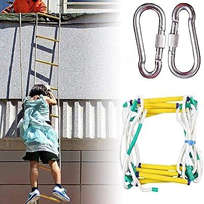 LATG Escalera De Evacuación De Seguridad contra Incendios De Emergencia Ignífuga Incendios,Escalera Plegable De Cuerda De Nylon Escape De Emergencia Combate contra Incendios Uso,5M: Amazon.es: Deportes y aire libre