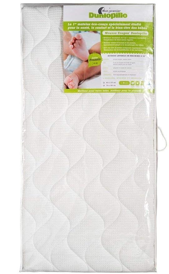 Dunlopillo 1053546 bebé colchón pequeño Pollito maletín de plástico Transparente, 140 x 70 x 12 cm: Amazon.es: Hogar