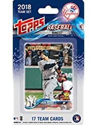 New York Yankees 2018 Topps Factory Sealed 17 Card Limited Edition Team Set with Aaron Judge, Gary Sanchez, Giancarlo Stanton and others!