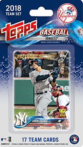 (New York Yankees 2018 Topps Factory Sealed 17 Card Limited Edition Team Set with Aaron Judge, Gary Sanchez, Giancarlo Stanton and others!)