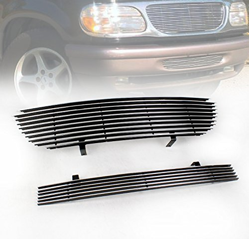 ZMAUTOPARTS Upper + Bumper Billet Grille Grill Insert Combo For 1995-1998 Ford Explorer