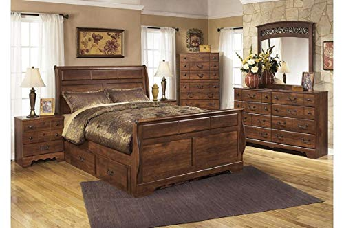 Amazing Buys Timberline Bedroom Set by Ashley Furniture - Includes, Queen Bed Dresser and Mirror