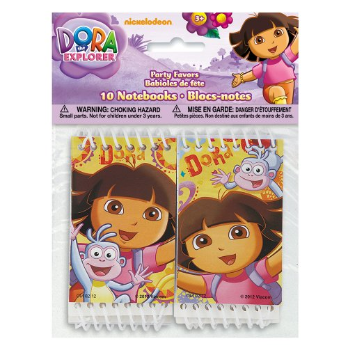 Mini Dora the Explorer Notebook Party Favors, 10ct