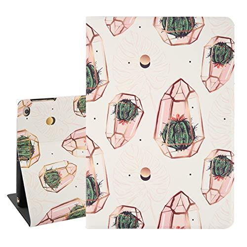 Cactus iPad Air 9.7 Case,Monstera Leaves Folio Stand Tablet Smart Case Cover with Auto Sleep Wakeup Function for iPad Air 1/2 5th/6th Gen 2017 2018