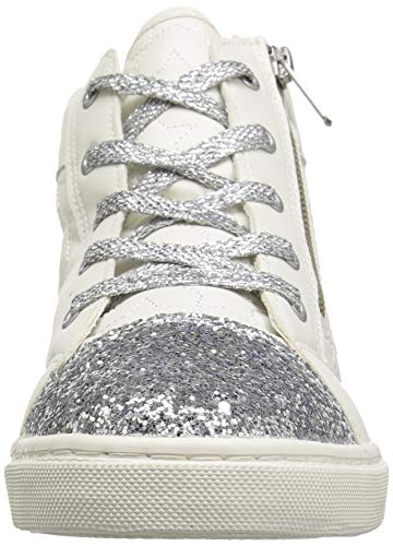 The Children's Place Girls' High Top Sneaker, White, TDDLR 7 Child US Toddler by The Children's Place (Image #4)