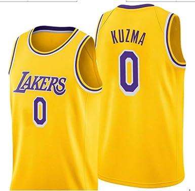 MHDE NBA Lakers 0 Kuzma Baloncesto Jersey Uniformes Deportes Baloncesto Camisas Cosidas Hombres Traje Corto Chaleco De Entrenamiento: Amazon.es: Ropa y accesorios