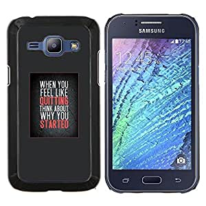 Dragon Case - FOR Samsung Galaxy J1 J100 J100H - don't quit inspiring get moving motivate - Caja protectora de pl??stico duro de la cubierta Dise?¡Ào Slim Fit