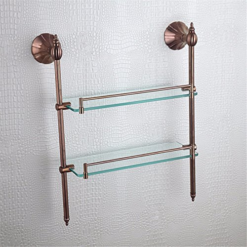 LAONA European style full copper rose gold petal base, bathroom accessories, towel rack, single and double pole, single and double toothbrush holder,Rack 2 by LINA bathroom accessories (Image #1)