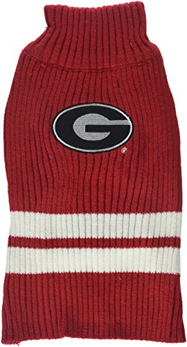 Pets First Collegiate Georgia Bulldogs Pet Sweater, Small
