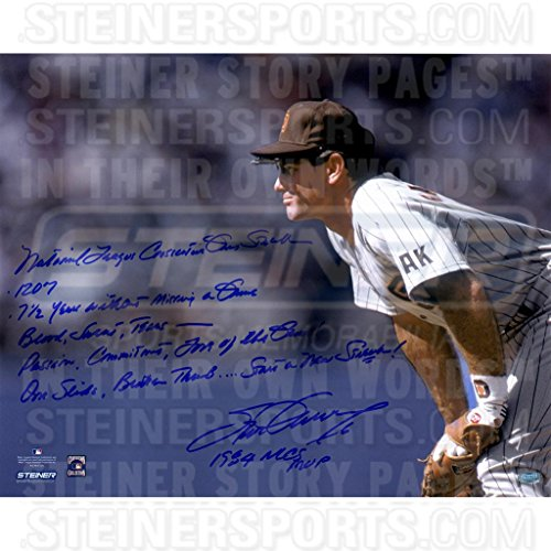 Steve Garvey San Diego Padres Stands Ready 16x20 Story Photo w/ Insc. ( Signed in - Outlets In Diego San