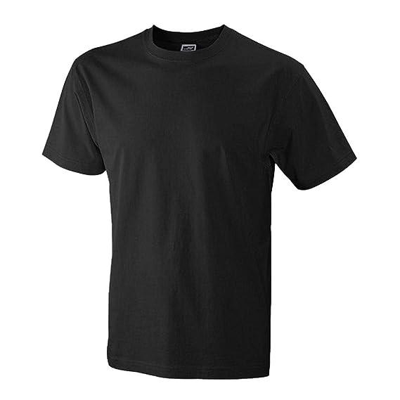 cd9c6fd12bf427 James+Nicholson Herren T-Shirt Strapazierfähiges Klassisches JN800   Amazon.de  Bekleidung