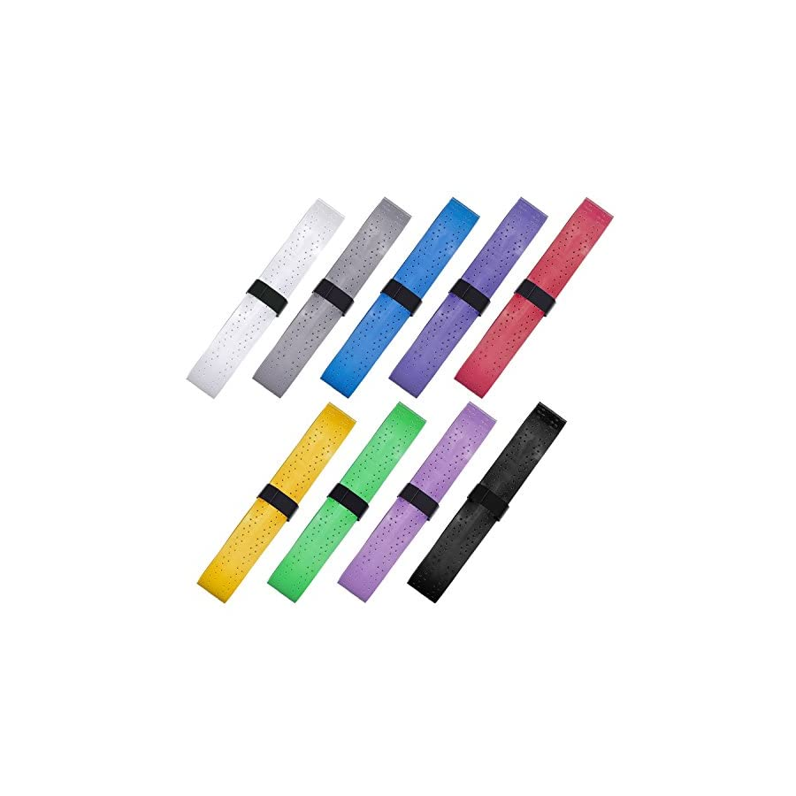 Pangda 9 Pieces Tennis Badminton Racket Overgrips for Anti slip and Absorbent Grip, Multicolor