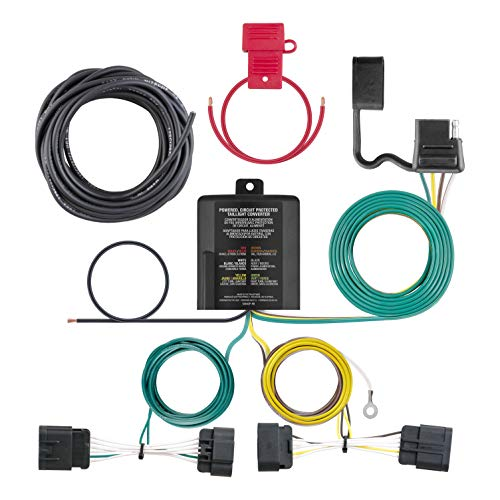 (CURT 56336 Vehicle-Side Custom 4-Pin Trailer Wiring Harness for Select Dodge)