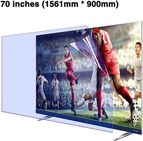BYCDD 70 Inch TV Screen Protector LED Ultra-Clear Anti-Blue Light Non-Glare Eye Protection Screen Filter for LCD OLED /& QLED 4K HDTV,A
