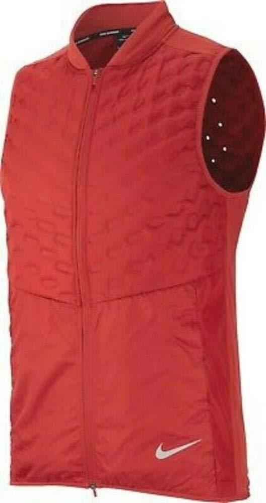 Nike Men's AeroLoft Running Vest 928501 (Medium, Burnt Orange-Red)