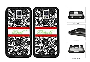 Black Floral Vector Red Stripe Friends Set Rubber Silicone TPU Cell Phone Case Samsung Galaxy S5 SM-G900