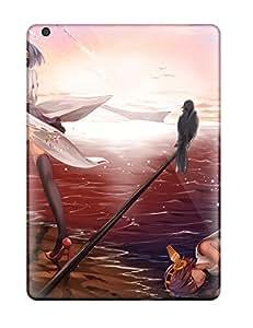 DanRobertse UyyEypL5101ODbfA Case Cover Skin For Ipad Air (girls Animal Bird Clouds Headband Hiei Kancolle Japanese Kantai Collection Shortskirt Sky Suikaxd Thighhighs )