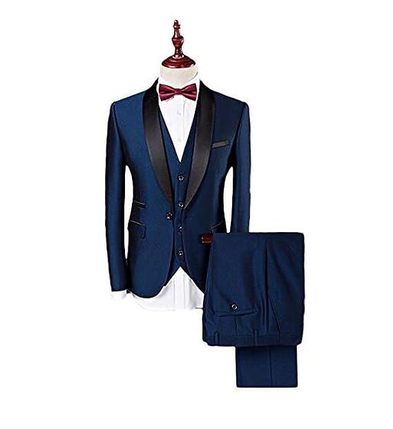 Botong Blue Shawl - Traje de Solapa para Hombre facf2c8afa1