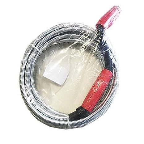 canalisation furet d/éboucheur de tuyau lavabo canalisations flexibles//le tuyaux d/évacuation wc deboucheur evier toilette 5mm X 5M 5mm X 5 M/ètre AURSTORE BASA D/éboucheur