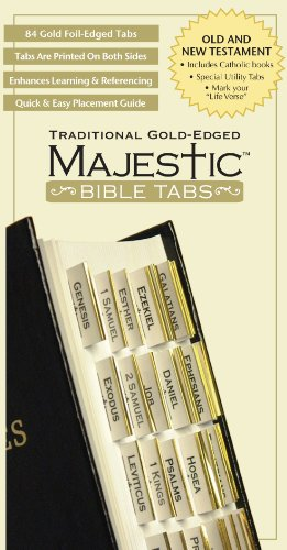 Majestic Traditional Gold-Edged Bible Tabs
