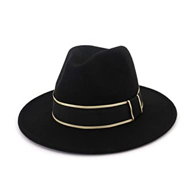 ea497e563 Men's Fedora Hats Unisex Classic Timeless Wide Brim Wool Felt Trilby ...