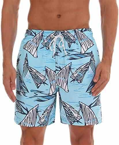 ZhenYiShi Quick Dry Mens Swim Shorts Summer Mens Board Shorts Surf Swimwear Beach Short Male Athletic Running Gym Short Man