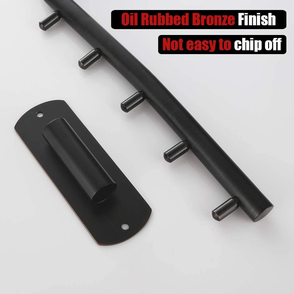 Clothing Hanging System Drying Closet Storage Organizer Oil Rubbed Bronze Wall Mount 2 Pack Stainless Steel Swing Arm Hook Holder JQK Folding Clothes Hanger Rack SHR100-ORB-P2