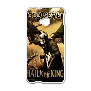 Avenged Sevenfold Hail to the King funda HTC uno M7 caja del teléfono celular funda cubre blanco, protectores de funda HTC uno M7 Funda blanco
