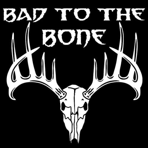 (Bad To The Bone Deer Window Graphic, Big Game Vinyl Hunting Stickers, Die Cut Vinyl Decal For Windows, Cars, Trucks, Tool Boxes, Laptops, Macbook - Virtually any Hard, Smooth Surface, White 12 Inch)