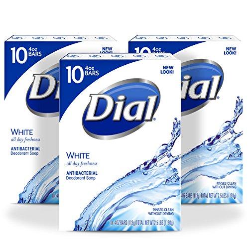 Dial Antibacterial Bar Soap, White, 4 Ounce, 30 - Antibacterial Soap Bar