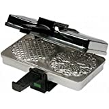 "CucinaPro  Polished Pizzelle Maker 220-05P - Makes Two 5"" Cookies at Once"