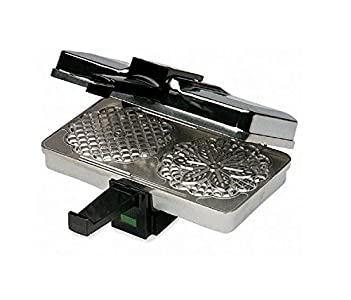 CucinaPro  Polished Pizzelle Maker 220-05P, Easy to Use, Makes Great Pizzelles
