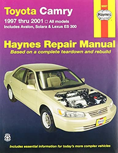 haynes toyota camry 97 01 manual 5055415932311 amazon com books rh amazon com 98 toyota camry owners manual pdf 1998 toyota camry factory service manual