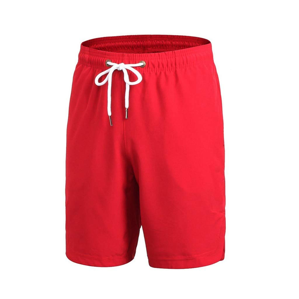 Ninasill Hot!Men's Pattern Printed Couple's Quick-Drying Beach Shorts Large Size Tethered Fitness Shorts Summer Pants