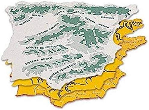 CSP 152218 - Pack de 3 plantillas con diseño mapa España, 22 x 18 cm: Amazon.es: Oficina y papelería