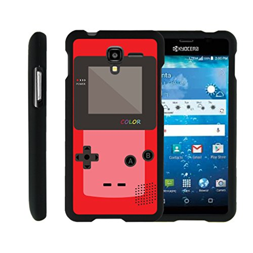 MINITURTLE Case Compatible w/ [Kyocera Hydro View Case, Hydro Reach Case, Hydro Shore Case][Snap Shell] Hard Plastic Slim Fitted Snap on case w/Unique Designs Red Gameboy ()