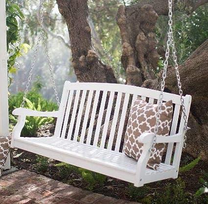 Miraculous Amazon Com Summer Decor Outdoor Bench Swing Outdoor Swing Machost Co Dining Chair Design Ideas Machostcouk